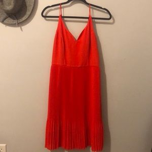 Gorgeous orange pleated dress